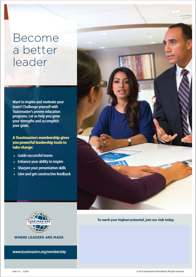 Toastmasters become a better leader handout