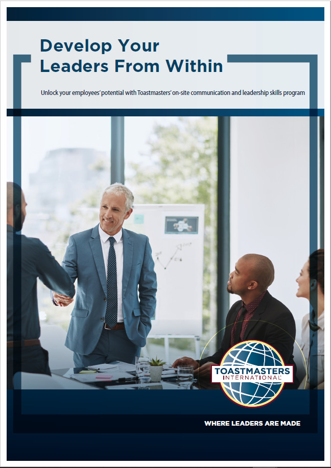 Toastmasters develop your leader from within flier