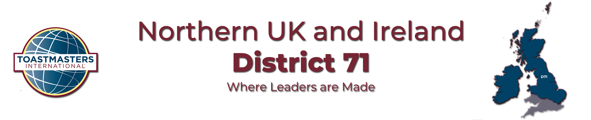 Where leaders are made District 71 banner