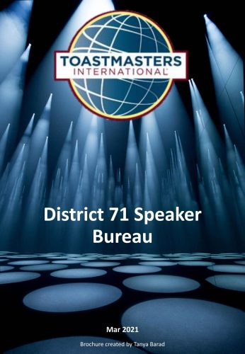 Speaker bureau brochure 2021
